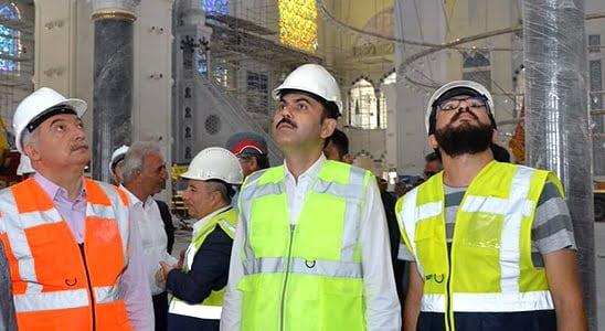 Bakan Kurum Çamlıca Camii inşaatını inceledi!