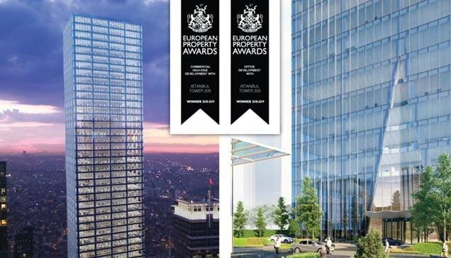 İstanbul Tower 205'e European Property Awards'dan 2 ödül!